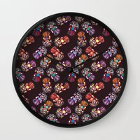 mucha Wall Clocks featuring mucha muchacha by Elminimal