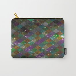 Diamonds In Space - Checkered / Diamond Pattern Overlaying An Abstract Space Background Carry-All Pouch