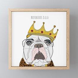Celebrity Dogs-Notorious D.O.G. Framed Mini Art Print