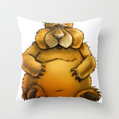 Beary sorry. Throw Pillow