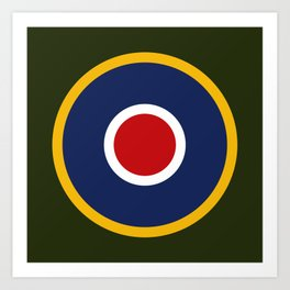 RAF Type C.1 Roundel Art Print