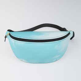 Aqua Blue Clouds Fanny Pack