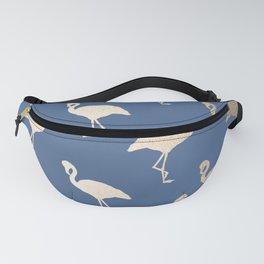 Gold Flamingo on Aegean Blue Fanny Pack