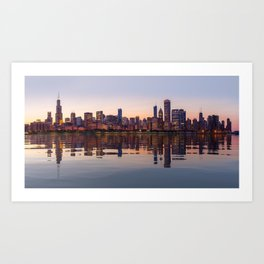 Panorama of the City skyline of Chicago Art Print