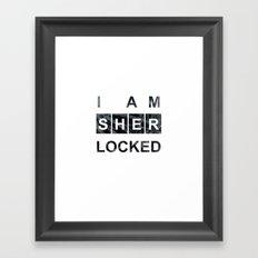 SHERLOCK I am Sherlocked Print Framed Art Print