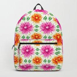 Pink and orange cacti flower Backpack
