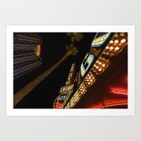 las vegas Art Prints featuring Las Vegas by David Cantatore
