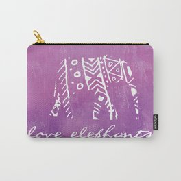 Elephant Love Purple Carry-All Pouch