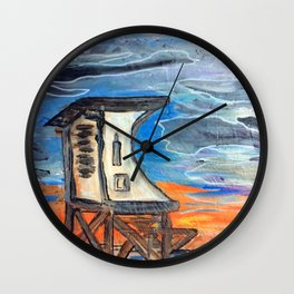 Wrightsville beach Lifeguard stand 1 Wall Clock