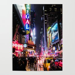 New York City Night Poster