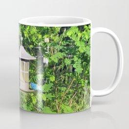 Red-Breasted Grosbeak & Indigo Bunting at Feeder Coffee Mug