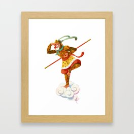 Monkey King Framed Art Print