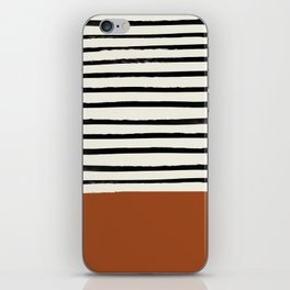 Burnt Orange x Stripes iPhone Skin