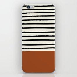 Burnt Orange x Stripes iPhone Skin