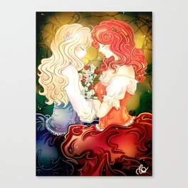 Snow White & Rose Red Canvas Print