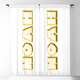 """NOAH"" first name yellow pattern Blackout Curtain"
