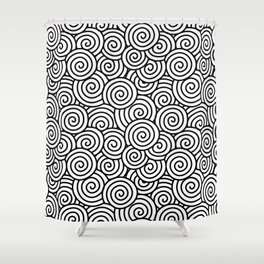 Chinese/Waves Shower Curtain