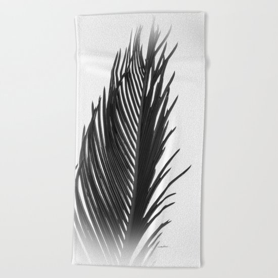 Palm: The Abstract in Black Beach Towel