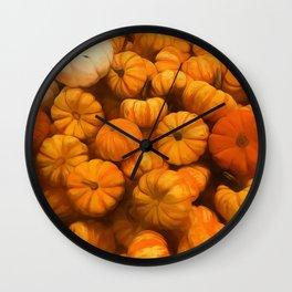 Pumpkins Tiny Gourds Pile Wall Clock