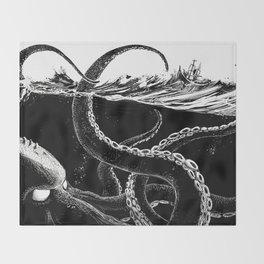 Kraken Rules the Sea Throw Blanket