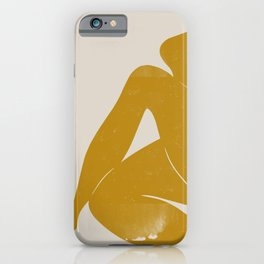 Nude Woman Sitting  iPhone Case