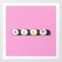 Happy Sushi! - Vector Art Print