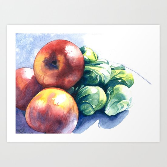 Apples and Sprouts Art Print