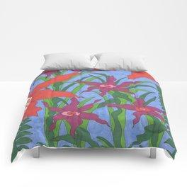 Boho Garden Blues Comforters