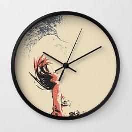 In the move - sexy nude girl, woman in bikini, abstract spiritual sketch, eagle spirit Wall Clock