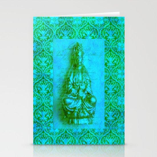 Jade Kwan Yin Stationery Cards