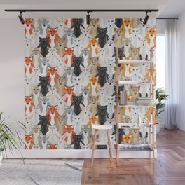 Friendly Foxes Wall Mural