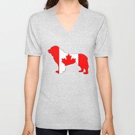 """Newfoundland Dog """"Canada"""" Unisex V-Neck"""