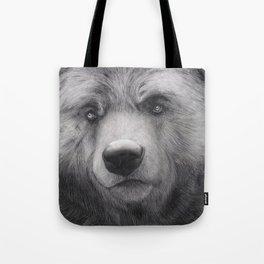 Bear Charcoal Tote Bag