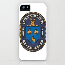 USS NATHANAEL GREENE (SSBN-636) PATCH iPhone Case