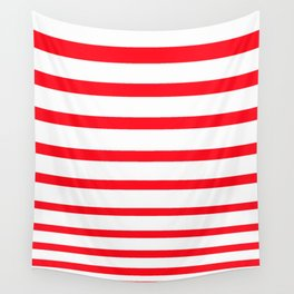 Red Lines Wall Tapestry