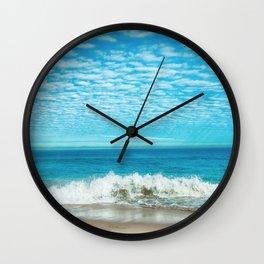 Waves on Beach Wall Clock