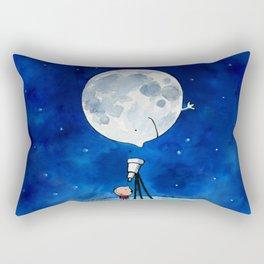 Little astronomer Rectangular Pillow