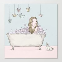 bath Canvas Prints featuring Bath by Annika Bäckström