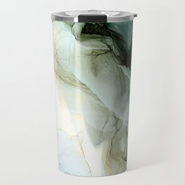 Land and Sky Abstract Landscape Painting Travel Mug