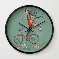 joy Wall Clocks featuring Joy by Catru