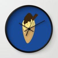 ice cream Wall Clocks featuring Ice-Cream by Shyam13