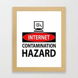 Internet – contamination hazard Framed Art Print