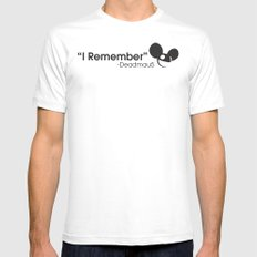 I Remember MEDIUM White Mens Fitted Tee