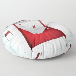Racing Gates Floor Pillow
