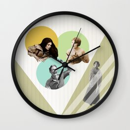 Love triangle and jealousy Wall Clock