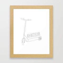 Scooter Amateur Framed Art Print