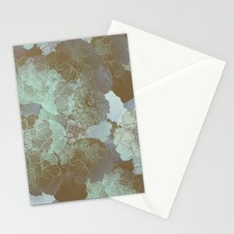 Cambridge Blue Floral Hues Stationery Cards