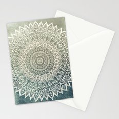 AUTUMN LEAVES MANDALA Stationery Cards