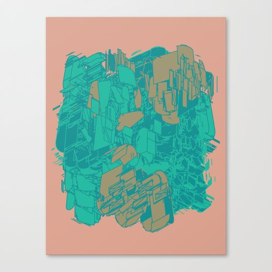 Graphic Junk Canvas Print
