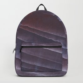 Dark purple striped wash drawing Backpack